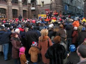 Folkeansamling i Kiev